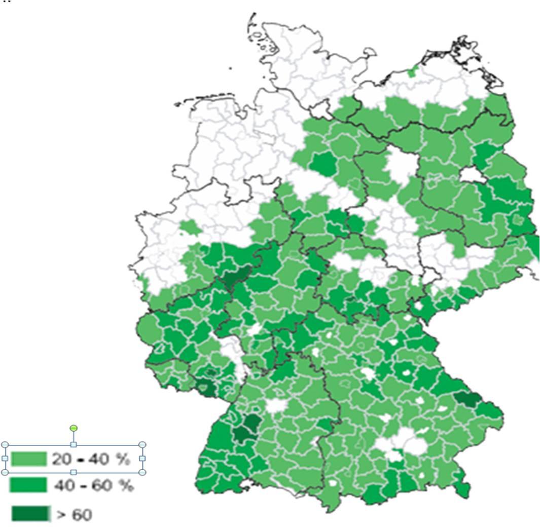 Waldfläche Bayern